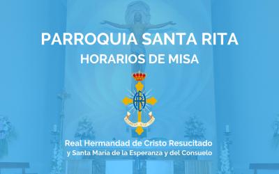 PQA. SANTA RITA   HORARIOS DE MISA