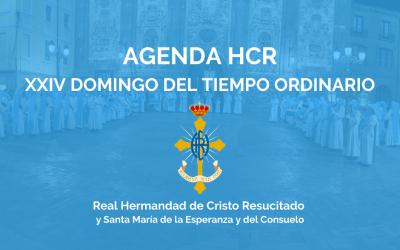 AGENDA HCR   XXIV DOMINGO DEL TIEMPO ORDINARIO