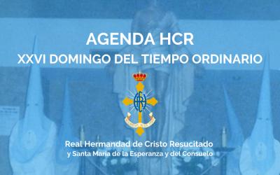 AGENDA HCR   XXVI DOMINGO DEL TIEMPO ORDINARIO