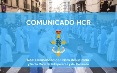 COMUNICADO HCR | CONFIRMACIÓN JUNTA RECTORA, MISA DIFUNTOS, LOTERÍA E INSTRUMENTOS