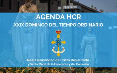 AGENDA HCR | XXIX DOMINGO DEL TIEMPO ORDINARIO