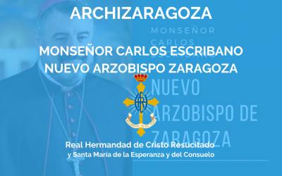 ARCHIZARAGOZA | MONSEÑOR CARLOS ESCRIBANO, NUEVO ARZOBISPO ZARAGOZA