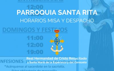 PQA. SANTA RITA | HORARIOS MISA Y DESPACHO