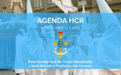 AGENDA HCR | XXXII DOMINGO T.ORD.