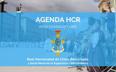 AGENDA HCR | XXXIII DOMINGO T.ORD.