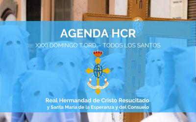 AGENDA HCR | XXXI DOMINGO T.ORD. – TODOS LOS SANTOS