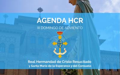 AGENDA HCR | III DOMINGO ADVIENTO